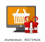 basket and shopping online...