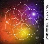 flower of life   the... | Shutterstock .eps vector #501724702
