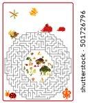 funny maze game for preschool... | Shutterstock . vector #501726796
