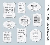 a large set of frames of... | Shutterstock .eps vector #501727672