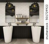 bathroom design modern   loft   ... | Shutterstock . vector #501729922