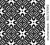 Stock vector vector black white seamless wallpaper vintage pattern retro background 501737092