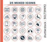 set of 25 universal editable... | Shutterstock .eps vector #501739492