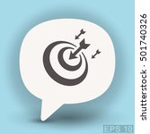 pictograph of target | Shutterstock .eps vector #501740326