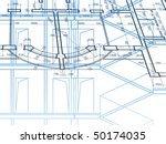 building background. plan of... | Shutterstock .eps vector #50174035