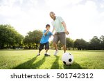 soccer football field father... | Shutterstock . vector #501742312