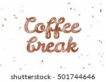 coffee break. watercolor... | Shutterstock . vector #501744646