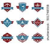 aero logo  aero modeling logo | Shutterstock .eps vector #501748558