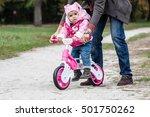 cute little girl having fun... | Shutterstock . vector #501750262