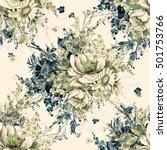 watercolor seamless pattern... | Shutterstock . vector #501753766