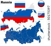 Russian Federation  Vector Set...