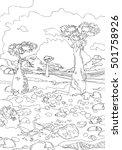 hand drawing ornamental... | Shutterstock .eps vector #501758926