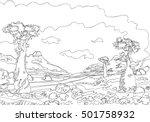 hand drawing ornamental... | Shutterstock .eps vector #501758932