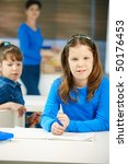 portrait of elementary age... | Shutterstock . vector #50176453
