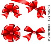 red bows  ribbon | Shutterstock .eps vector #501765748