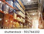 interior of a modern warehouse | Shutterstock . vector #501766102