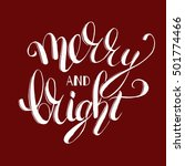christmas quote typographical... | Shutterstock .eps vector #501774466