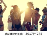 beach party freedom vacation... | Shutterstock . vector #501794278