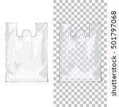 disposable t shirt plastic bags ... | Shutterstock .eps vector #501797068