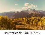 beautiful autumn mountain... | Shutterstock . vector #501807742