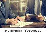 business men meeting tablet...   Shutterstock . vector #501808816