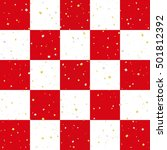 red and white checkered... | Shutterstock .eps vector #501812392