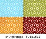 Seamless indian pattern in four color modes - stock vector