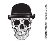vector hand drawn skull... | Shutterstock .eps vector #501819226