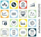 set of 16 universal editable... | Shutterstock .eps vector #501831292