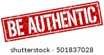 be authentic. grunge vintage be ... | Shutterstock .eps vector #501837028