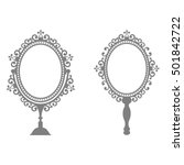Mirror In Vintage Style Set
