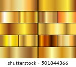 set of gold gradients.golden... | Shutterstock .eps vector #501844366