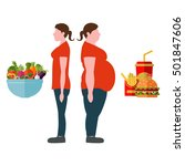 weight loss concept. vector... | Shutterstock .eps vector #501847606