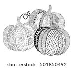 Zentangle Stylized Pumpkins....