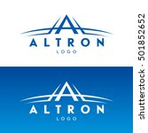 vector logo with the stylized... | Shutterstock .eps vector #501852652