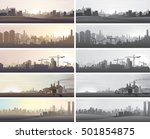 industrial business landscapes. ... | Shutterstock .eps vector #501854875