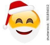 happy santa smile emoticon for... | Shutterstock .eps vector #501856012