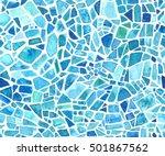 seamless mosaic texture. vector ... | Shutterstock .eps vector #501867562