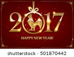 happy chinese new year 2017... | Shutterstock .eps vector #501870442