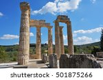 pillars of the temple of zeus... | Shutterstock . vector #501875266