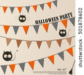 devil owl halloween invites ... | Shutterstock .eps vector #501878602
