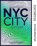 nyc   new york district   stock ... | Shutterstock .eps vector #501881302