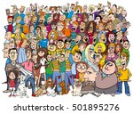 cartoon illustration of people... | Shutterstock .eps vector #501895276
