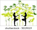 vector floral background | Shutterstock . vector #5019019