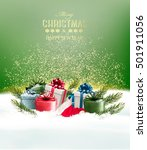 holiday christmas background... | Shutterstock .eps vector #501911056