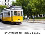 famous old yellow tram on... | Shutterstock . vector #501911182
