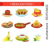 mexican food famous dishes... | Shutterstock .eps vector #501914632