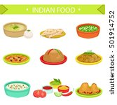 indian food signature dishes... | Shutterstock .eps vector #501914752