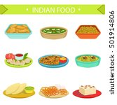 indian food famous dishes... | Shutterstock .eps vector #501914806