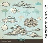 vector set  clouds | Shutterstock .eps vector #50192029